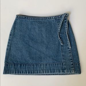 GAP Girls' Denim Wrap Skirt